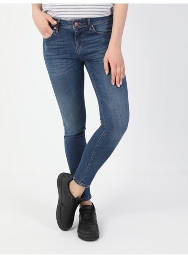 Colin's 757 Sally Düşük Bel Dar Paça Super Slim Fit Mavi Kadın Jean Pantolon Lacivert